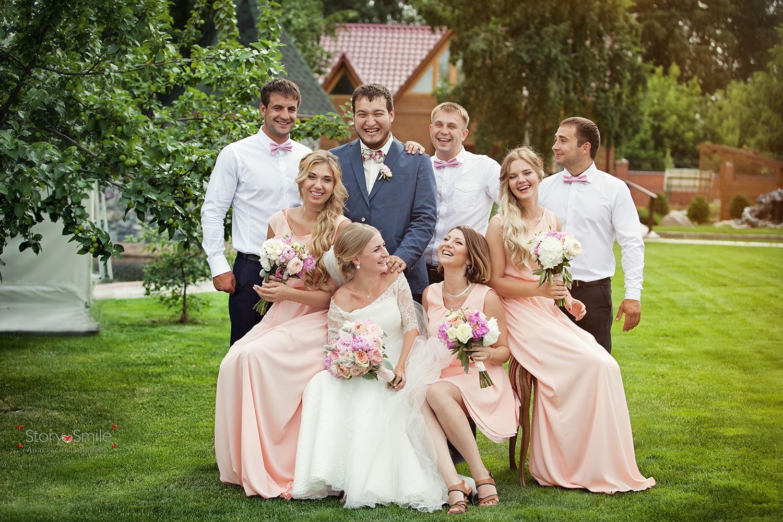 Групповые фото на свадьбе