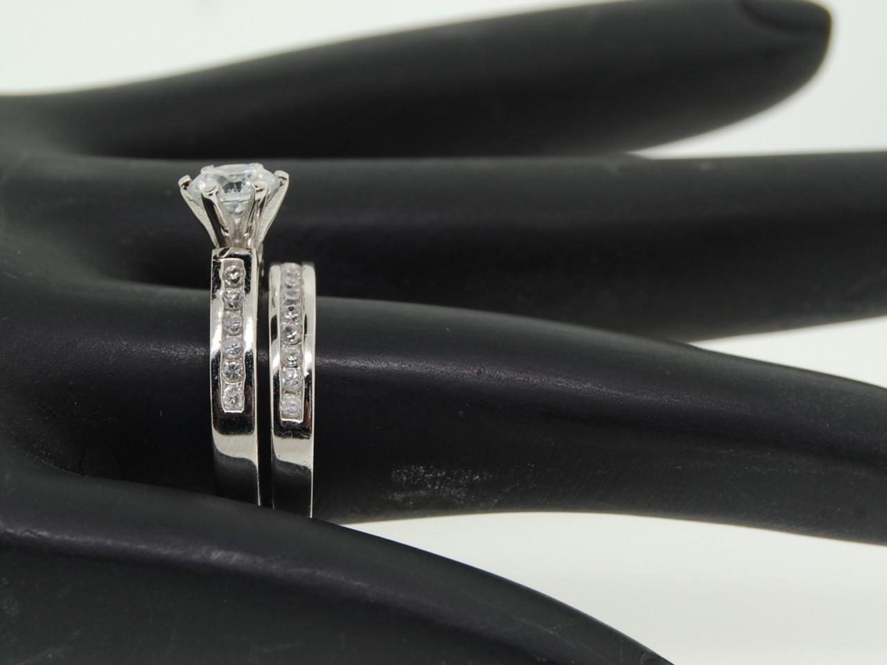 cz wedding ring sets atlanta