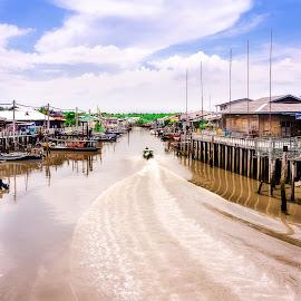 Crab Island by Wak Li - Landscapes Travel ( water, village, fishing, island )