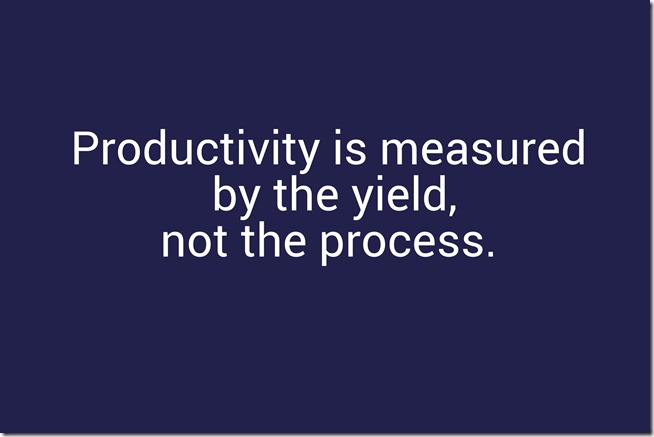 productivity is measured by the yield