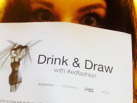 #EdFashion Drink and Draw