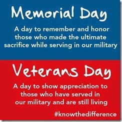 Mem Day vs Vet Day