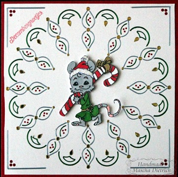 Hobbydots Betty Mouse with Candy Cane 1
