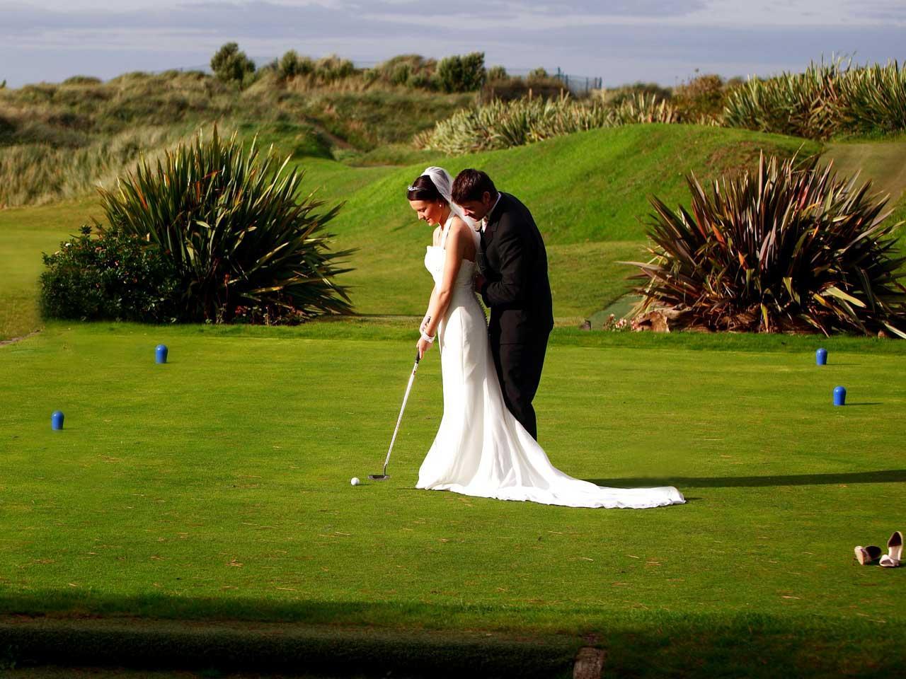 Beach wedding Wedding couple