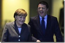 Angela Merkel con Matteo Renzi