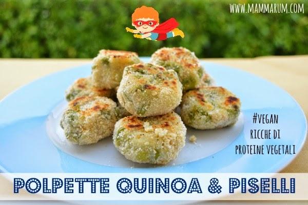 ricette polpette vegan quinoa piselli