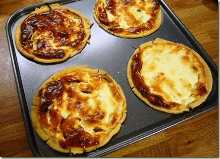 caramelised onion and goats cheese tartlets