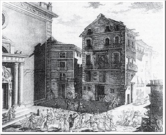 1810 grabado iglesia de la compañia