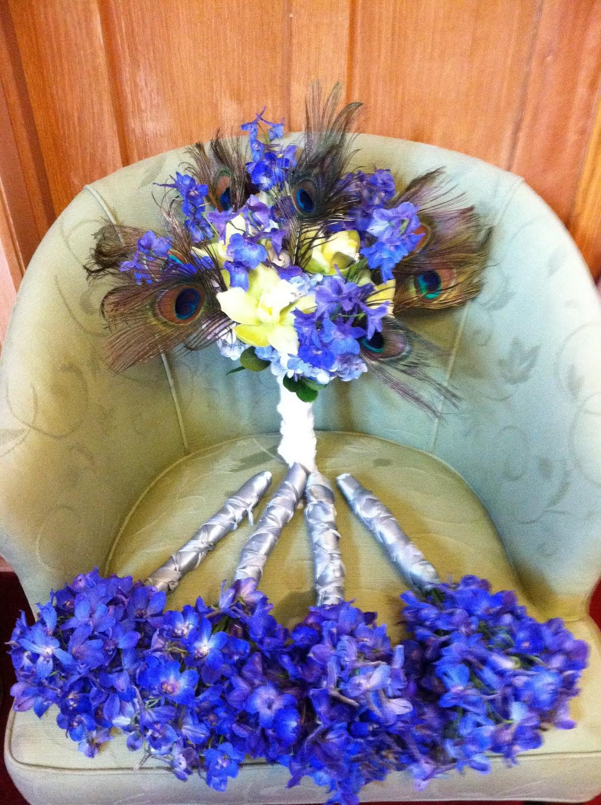 wedding centerpiece delphinium