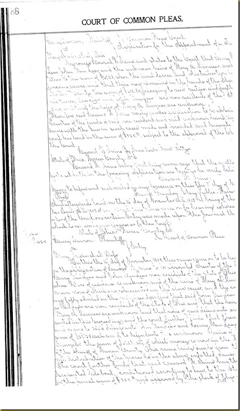 Henry Dawson file partition Mary Irwin 13