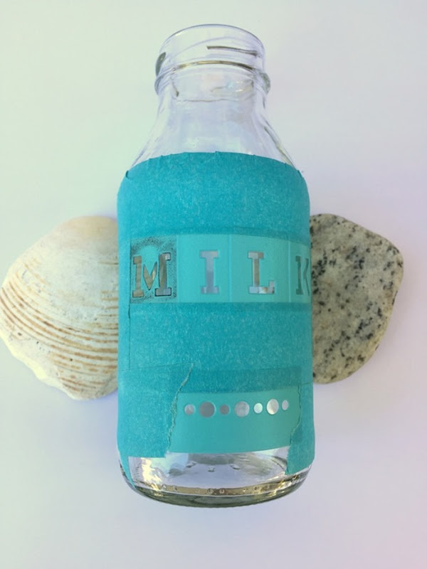 Etched Glass Milk Bottle (1)