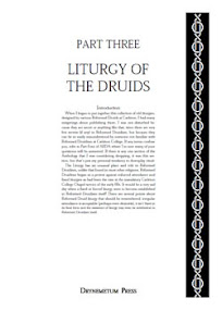 Cover of Reformed Druids's Book Anthology 03 Books of the Liturgy