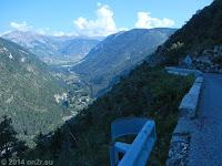 Nordrampe des Col de la Colle St.-Michel (1433 m) Richtung Colmars.