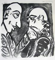 Dej BAO. 043 . Un Chemin dans la Pierre . 1977 . Lithographie . 73 x 55 cm