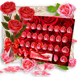 Red Rose Flower Keyboard Theme Icon