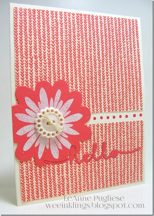 LeAnne Pugliese weeInklings Embedded Hello Flower Patch