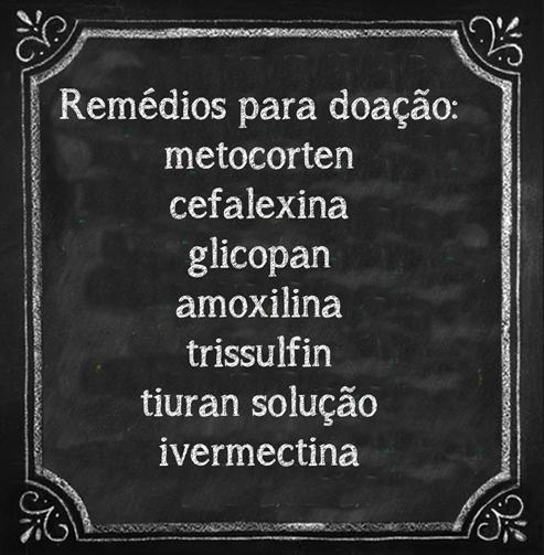 remédios para doação