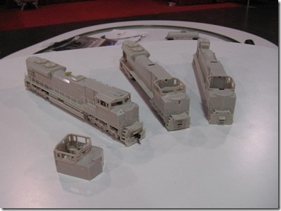 IMG_0657 HO-Scale SD70ACe Preproduction Models by Athearn Genesis at the WGH Show in Puyallup, Washington on November 21, 2009