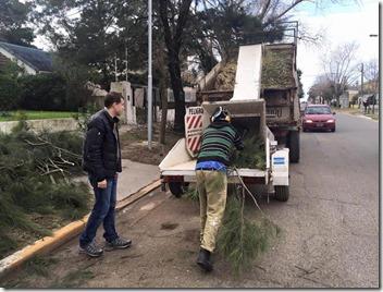La Municipalidad de La Costa puso en marcha una maquinaria que facilita las tareas de poda