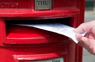 Letter being posted