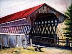 Pont de Gould, pastel sec ,12 x 16 po.