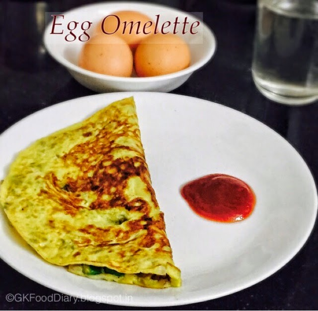 Egg Omelet Masala recipe