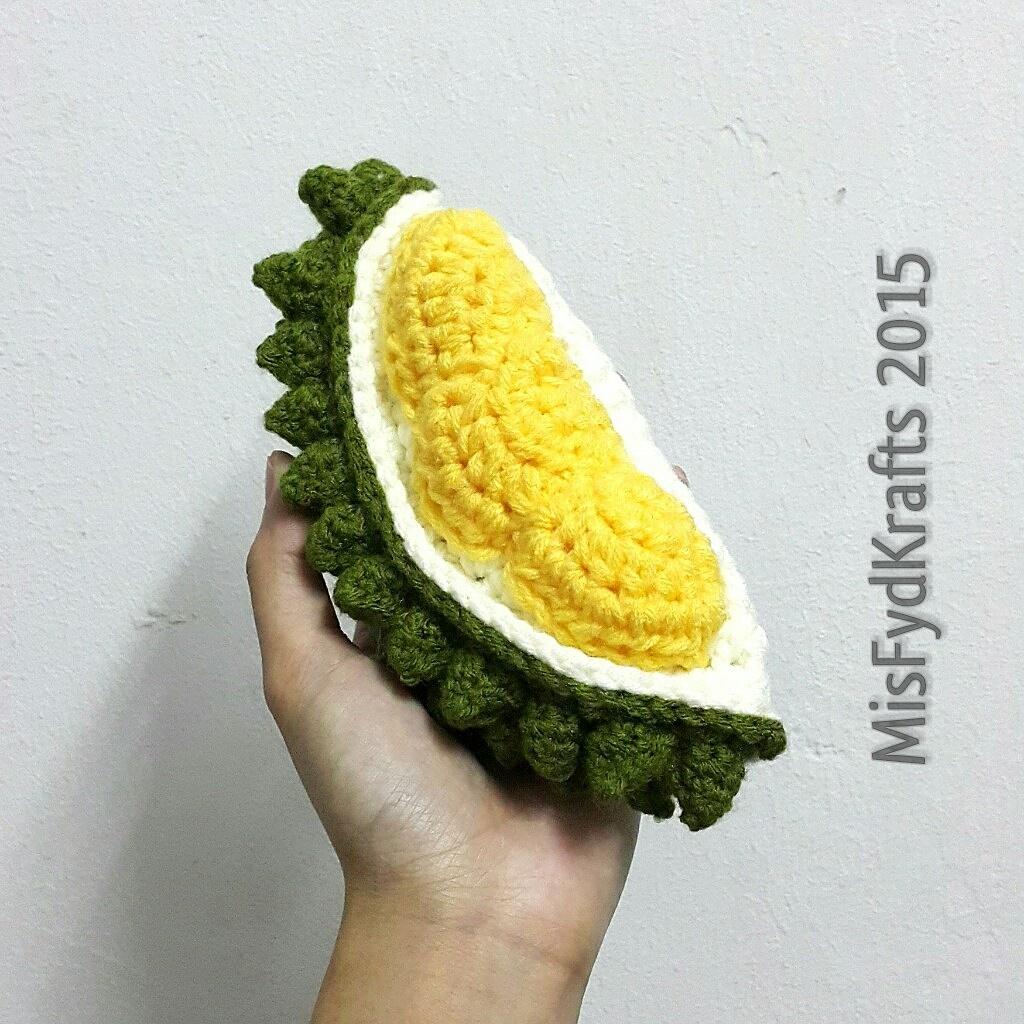 Amigurumi Fruit : MisFydKrafts: Durian, the king of fruits, Crochet Amigurumi