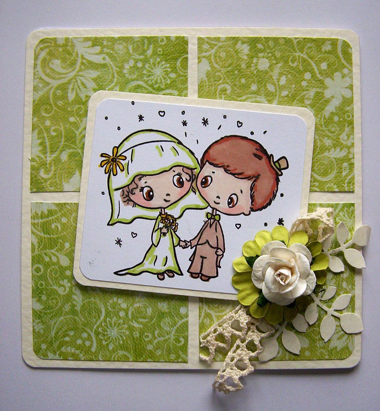 Sharing a Wedding Day card