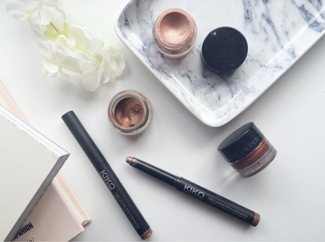 cream eyeshadows, top cream eyeshadows, best cream eyeshadows, kiko long lasting eyeshadow sticks, kiko eyeshadow sticks, max factor excess shimmer bronze, Scottish blogger, UK blogger