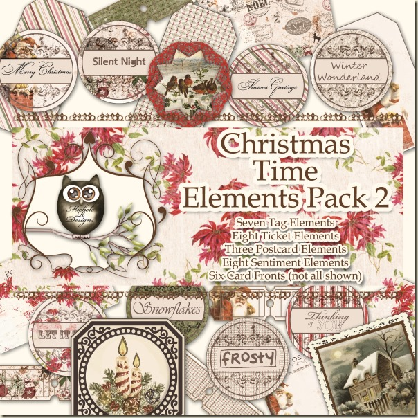 Christmas Time Elements Pack 2 Front Sheet