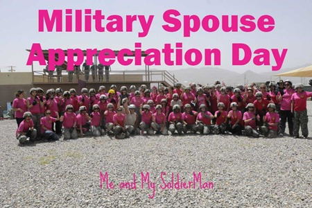 Me and My SoldierMan: Military Spouse Appreciation Day Giveaway http://www.meandmysoldierman.com/2015/05/military-spouse-appreciation-day.html