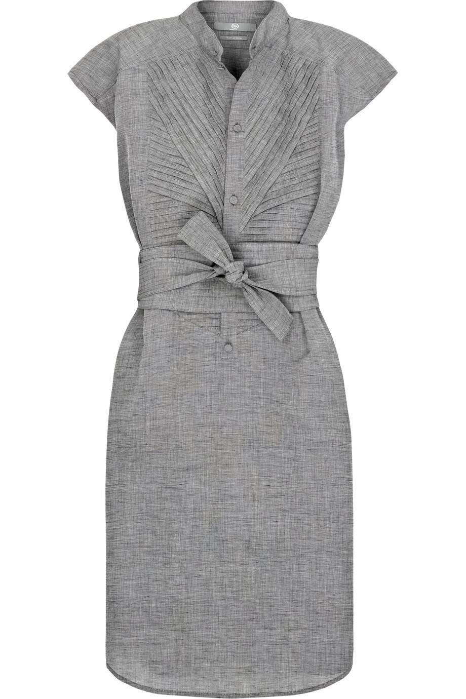 McQ Linen-blend Tuxedo Dress