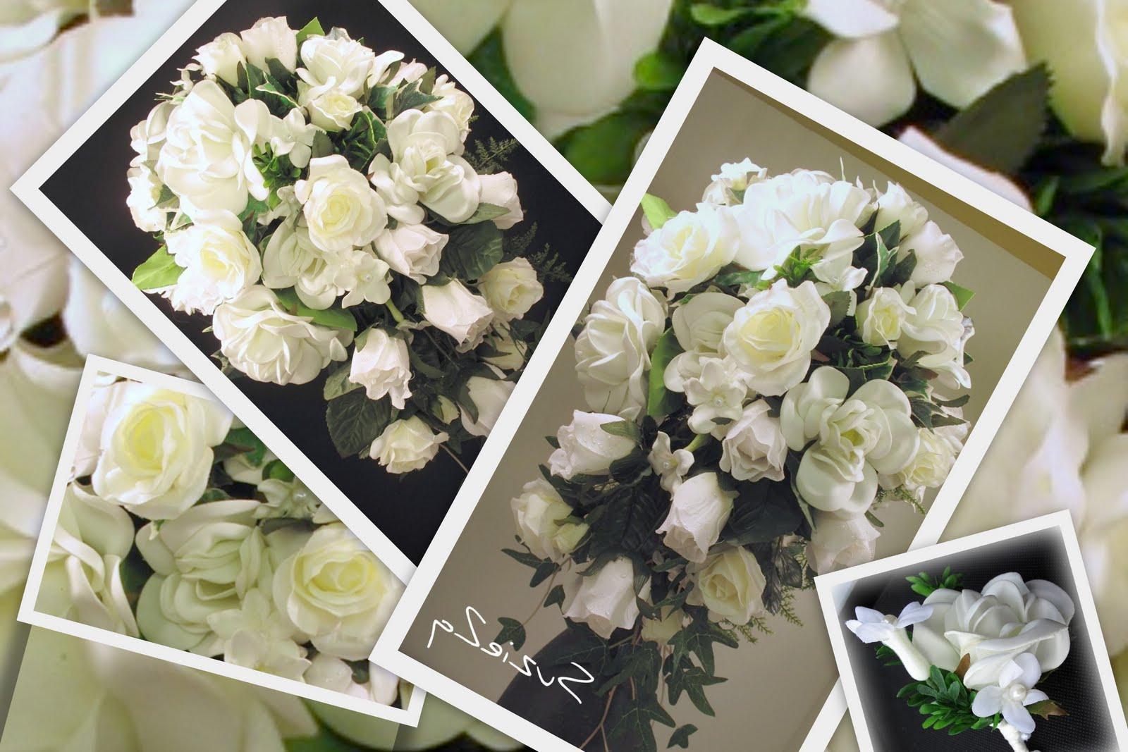 winter cascading bridal bouquets