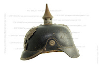 The side profile of the Pickelhaube model 1915
