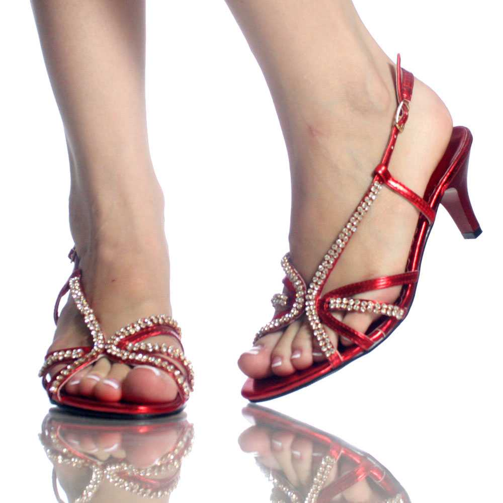 red wedding shoes with