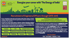 IOCL GATE 2016 advertisement