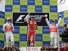 2007 F1 GP of Spain Podium: 1. Massa, 2. Hamilton, 3. Alonso