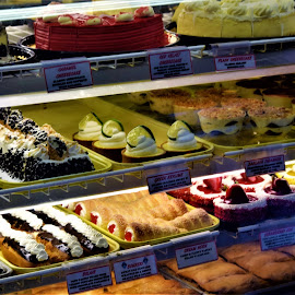 Pastry in a Greek Store by Priscilla Renda McDaniel - Food & Drink Candy & Dessert ( italian, greek, food, yummy, pastry )