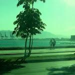 widok z autobusu miejskiego w Maladze