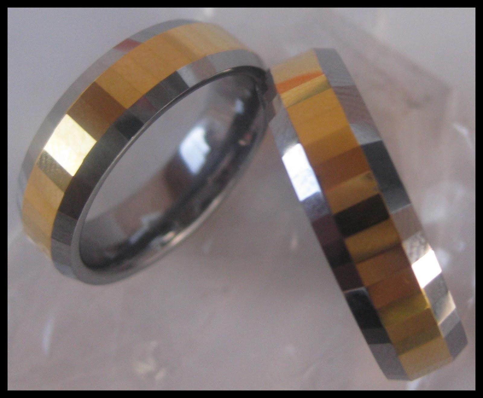 The tungsten wedding rings are scratch resistant .Tungsten is twice as hard