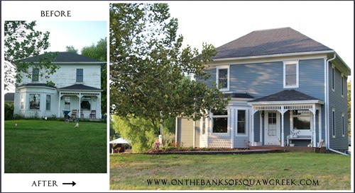 before and after porch and bay window