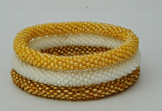 assorted solid color bracelets