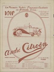 Citroën 1919 Type A publicité