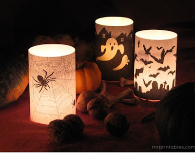 Halloween candle wraps