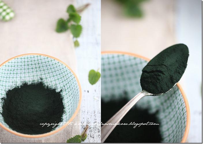 Zielony koktajl ze spiruliną