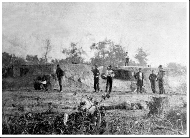 Confederate dead in front of Fort Robinette, Corinth