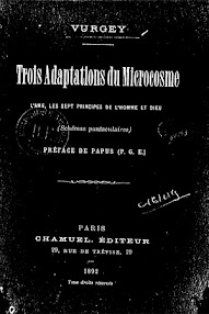 Cover of Vurgey's Book Trois Adaptations du Microcosme (Preface de Papus,1892,in French)