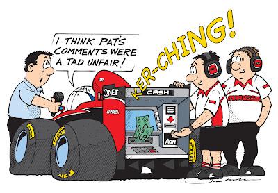 Макс Чилтон - денежный автомат Marussia - комикс Jim Bamber