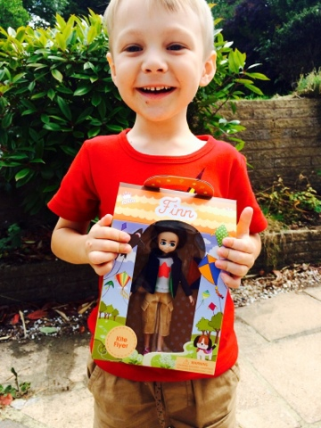 Blake Clement with Kite Flyer Finn by Lottie Dolls