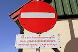 Greenlandic and Danish Road Signs -- Qaqortoq, Greenland